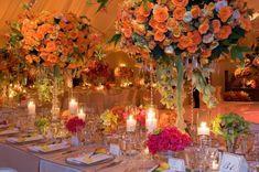 orance flower centerpiece