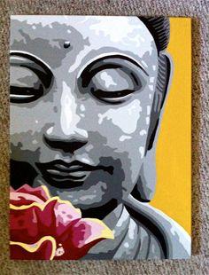 18 x 24 Pop Art Painting of Buddha via etsy