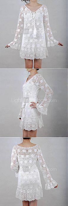 White crochet dress!