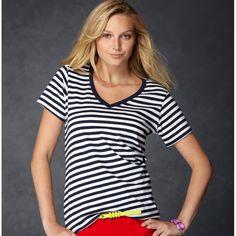 530421e283 Anvil 8823 / Women's Lightweight Striped V-Neck Tee | TSC-Apparel Wholesale  Clothing