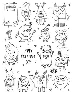 free valentines coloring pages for kids in glasses or eye patches - Free Valentine Coloring Pages For Preschoolers