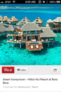 Bora Bora Island.. I've wanted to honeymoon here ever since I saw this location on The Bachelor! But once I started doing some research for our honeymoon in a couple years, I found that some places were $1,000+ per NIGHT!!!!! #brb #shittingmypants
