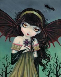 Hey, I found this really awesome Etsy listing at https://www.etsy.com/listing/68715815/gothic-vampire-fairy-fantasy-fine-art