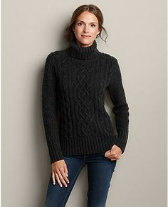 Heritage Cable Turtleneck Sweater | Eddie Bauer....hmmmm...knock off?