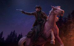 Arthur Morgan art by Teresa Strobl Wild West Games, Red Dead Redemption 1, Read Dead, Horse Story, Morgan Horse, Cowboy Art, Horse Drawings, Horse Art, Fan Art