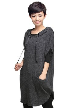 Mordenmiss Women's Hoodie Pullover Spring Clothing Garb Style 1 Gray at Amazon Women's Clothing store: