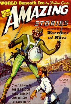 LEO MOREY - Warriors of Mars by Arthur Tofte - Aug 1939 Amazing Stories