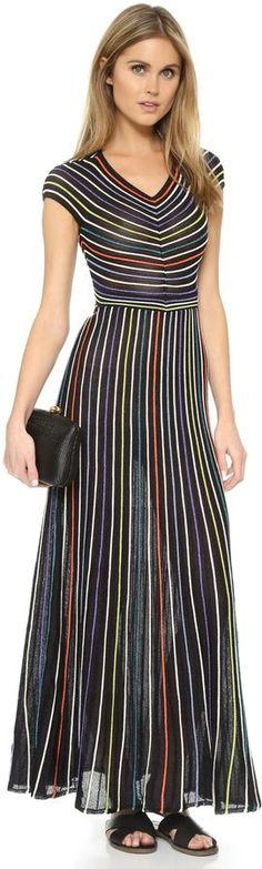 M Missoni Micro Stripe Maxi Dress on ShopStyle