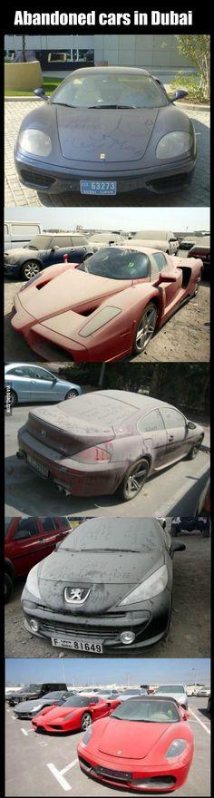 Abandoned cars in Dubai - 9GAG