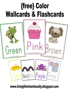 {free} Color Wallcards & Flashcards