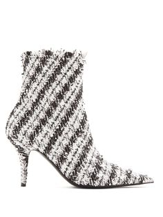b30fadc2c87d2 Balenciaga Knife tweed bootie at MATCHESFASHION.COM Balenciaga Shoes