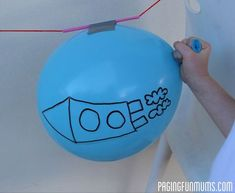 Balloon Rocket! Easy Science Experiment for Kids. Prepare to blast off!