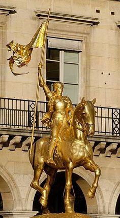 Equestrian statue of Joan of Arc ~ by Emmanuel Frémiet 1899, Paris, France