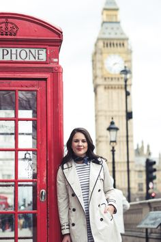 London outfit ideas - striped dress outfit, Hunter boots, trench coat - My Style Vita @mystylevita