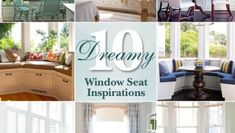 View these 10 Dreamy Window Seat Inspiration Photos. Then get the tutorial to build your own bay window seat with built in storage. Window Seat Storage, Stair Storage, Window Seats, Stair Walls, Tiny House Stairs, Classic Window, Farmhouse Floor Plans, Stair Decor, Living Room Windows