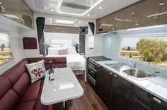 Custom Caravan Manufacturers – family, rear club lounge, tandem axle, single axle for off-grid or off-road – Crafted and customised to your needs Luxury Caravans, Off Roaders, Motorhome, Rv, Wonderland, Lounge, 20 Years, Money, Airport Lounge
