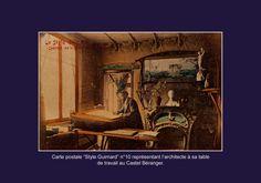 l'architecte a sa table de travail au castel Beranger