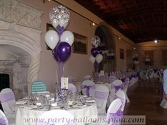 Balloon Table Decorations | Wedding+Decorations+at+Ashton+Court+balloon+decorations,+chair+cover ...