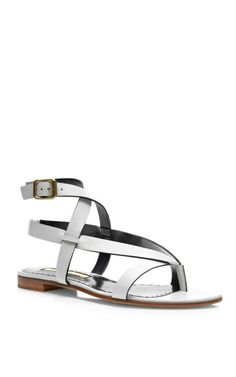 Tallulah Flat Leather Sandals by Rupert Sanderson - Moda Operandi