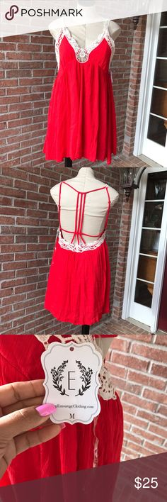 Babydoll dress Super cute babydoll style red dress !!! Dresses Mini