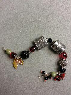 BRACELET -    beads by ANNE CHOI; enamel beads by GardanneBeads; CeramicBeadStore;