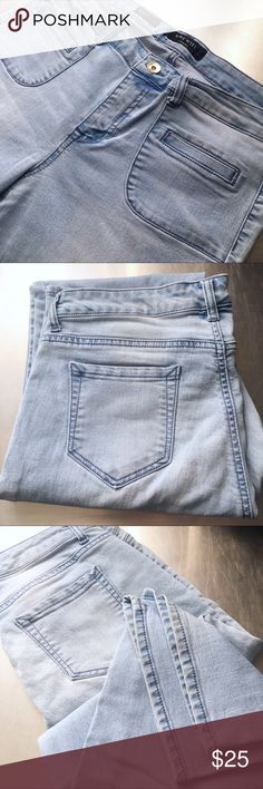 """Nine West boot cut jeans, Super soft, sz14 Super soft, Nine West jeans. Square front pockets. Gold button. Straight cut, boot leg style. Worn a few times, good condition. Bottom hem intact. I am approx 5' 8"""" and these jeans fit well with a healed boot. I would say, Inseam approx 34"""". I am a very reliable seller and my items are quality, gently used or brand new. Nine West Jeans Boot Cut"""