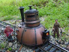 CP Rail Manitoba & Minnesota Subdivision: Steampunk Trains - The Tortoise. Victorian Literature, Garden Railroad, Making A Model, Train Art, Hobby Trains, Train Pictures, Concept Ships, Steampunk Accessories, Model Train Layouts