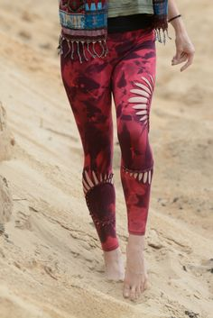 Cut out and dyed leggings by EgluEglu on Etsy