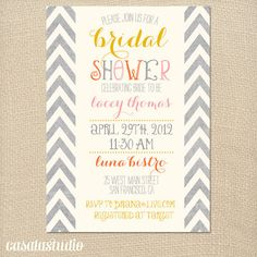 Bridal Shower Invites: Summer Fete | The Ultimate Bridesmaid Guide
