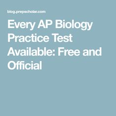 Science biology resource Every AP Biology Practice Test Available: Free and Official Biology Classroom, Biology Teacher, Ap Biology, Teaching Biology, Science Biology, Life Science, English Past Papers, Ap Environmental Science, Ap Chemistry