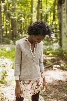 Modèle de tricot - Brooklyn Tweed Pull WELLWOOD - L'échappée Laine
