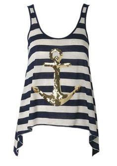 Gold anchor shirt