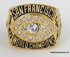 1981 San Francisco 49ers Championship Super Bowl Replica Ring