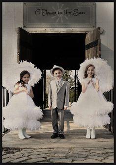 Triplets - Vintage Photoshoot
