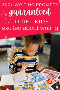 💖 Give kids the confidence and inspiration they need to fall in love with writing.💖 ✋ Raise your hand if your daily writing time looks something like this: 1) Yelling, crumpled papers, and spears–uh, sorry, pencils—getting thrown at the wall. 2) Sobbing, tears, and pleas for mercy. 3) Frustrated children crumpling up their papers and demanding to know why you insist on inflicting this cruel torture on them. Sound familiar? These writing prompts and resources will turn all that around! Creative Writing For Kids, Creative Writing Prompts, Cool Writing, Writing Poetry, High School Writing Prompts, Writing Assignments, Writing Lessons, Writing Skills, Printing And Binding