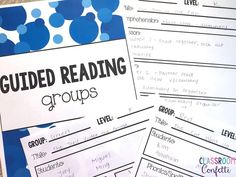 The Ultimate Reading Binder to help you organize your reading block! This simple and easy to use Reading Binder included conference logs, guided reading plans, strategy group plans and more!