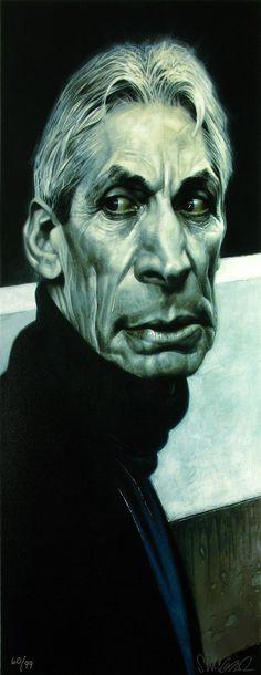 Artist's rendering of Charlie Watts by Sebastian Kruger