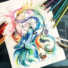 Wolf and Dreamcatcher