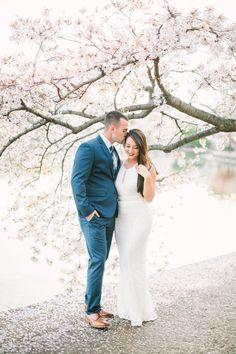 Photography: Megan Chase Photography - www.meganchasephotography.com Read More: http://www.stylemepretty.com/2015/06/01/romantic-dc-cherry-blossom-engagement-session/