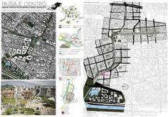 Lamina sintesis proyecto urbano. Betta, Floor Plans, House, Architectural Prints, Urban Park, Architects, Parks, Home, Haus