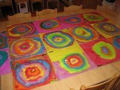 Kunst in de klas Kandinsky Classroom Art Projects, Preschool Projects, Art Classroom, Classroom Themes, Kandinsky, Fantasy Kunst, Anime Kunst, 2nd Grade Art, Rainbow Theme