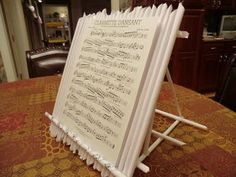 Tabletop Music Stand (made from paper!)
