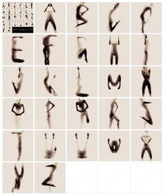 Naked Silhouette Alphabet by Anastasia Mastrakouli #type