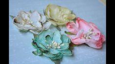 Цветы своими руками (для скрапбукинга). Очень легкий подробный МК