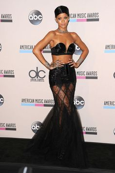 In Jean Paul Gaultier at the 2013 American Music Awards.