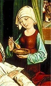"""Teil aus """"birth of Rochus"""",  Deutschland (St. Lorenz, Nürnberg),  1475-1485"""
