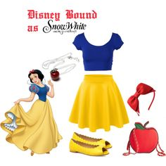 Disney Bound on a Budget: Snow White by laurenrez on Polyvore featuring polyvore fashion style Evans Once Upon a Time snowwhite disneybound Disneyprincess disneyside