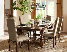 Design a beautiful dining space to entertain friends and family. Pottery Barn's dining tables and chairs are defined by exceptional craftsmanship. Extendable Dining Table, Dining Table Chairs, Dining Room Furniture, Home Furniture, Colonial Furniture, Furniture Online, Dining Set, Barn Living, Living Room