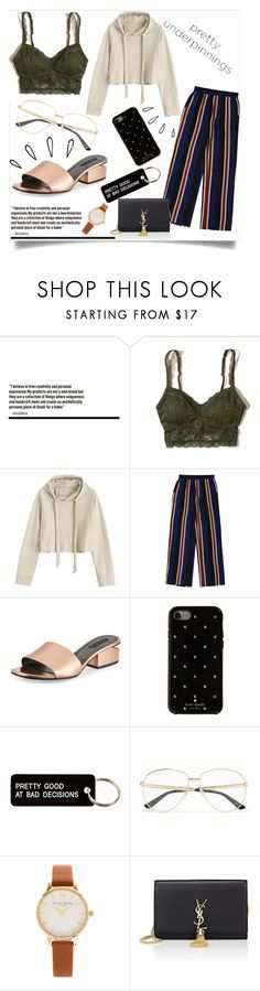 """Untitled #810"" by neflaluna ❤ liked on Polyvore featuring Hollister Co., Alexander Wang, Kate Spade, Various Projects, Old Navy, Gucci, Olivia Burton, Yves Saint Laurent, polyvorecontest and polyvoreset"