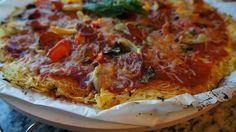 Spaghetti Squash Crust Pizza   fastPaleo